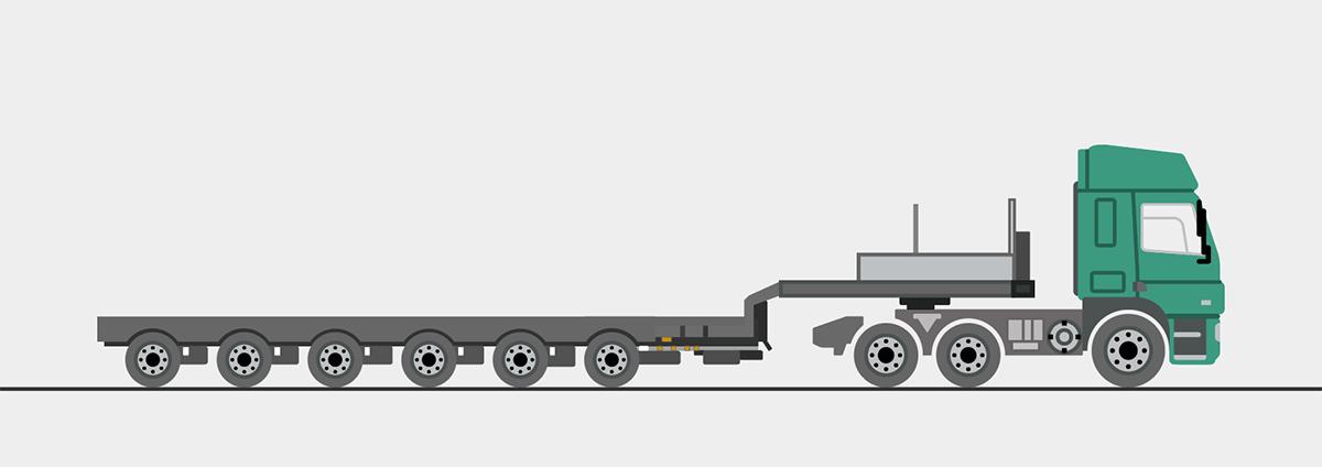 Sattelzugmaschine mit Auflieger