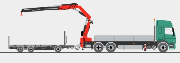 LKW mit Heckladekran, Stückgewichte bis ca. 9 to