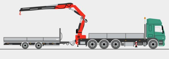 LKW mit Heckladekran, Stückgewichte bis ca. 11,5 to