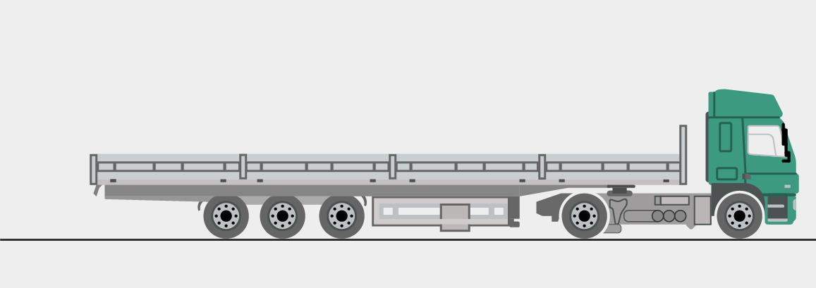 Offener Auflieger mit Coilmulde, 13,6 m lang